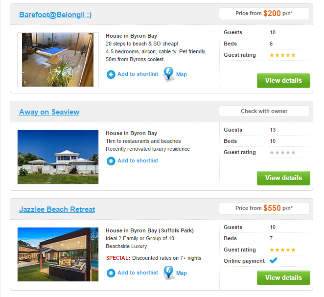 Byron Bay Accommodation From Stayz