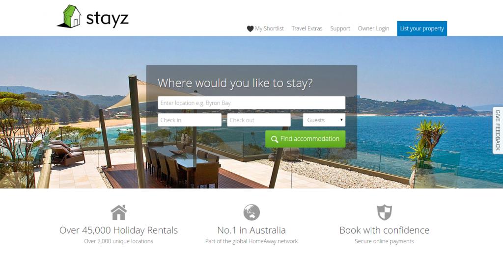 Stayz Holiday Accommodation   45 000  Holiday Rentals across Australia